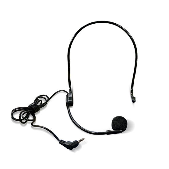 headset microphone for tour guide