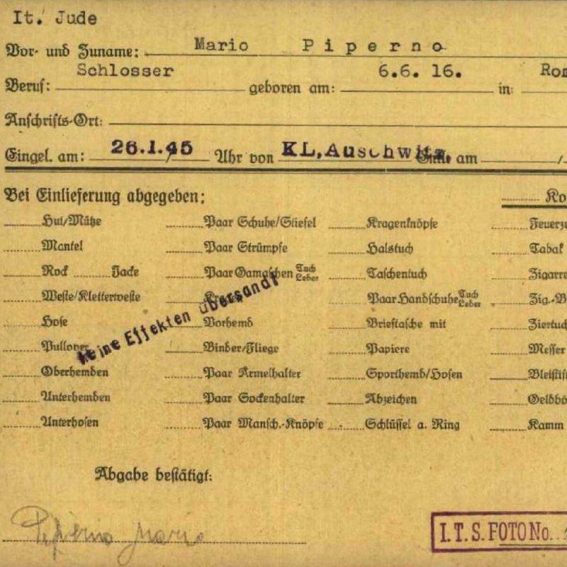 Piperno Mario Buchenwald